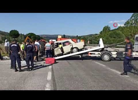 Emekli polis kazada hayatını kaybetti
