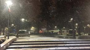 Çorum'da kar başladı