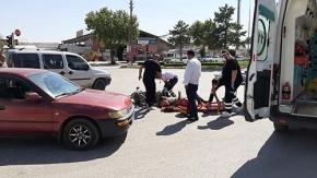 Akşemseddin Caddesi'nde ters yön kazası