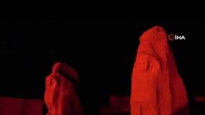 Türkiye'nin ilk milli kazı alanı kırmızıya büründü