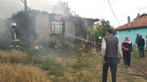 Eskice Köyü'nde yangın