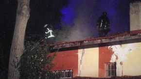 Metruk binadaki yangın korkuttu