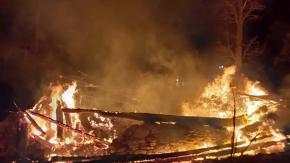 11 ev cayır cayır yandı
